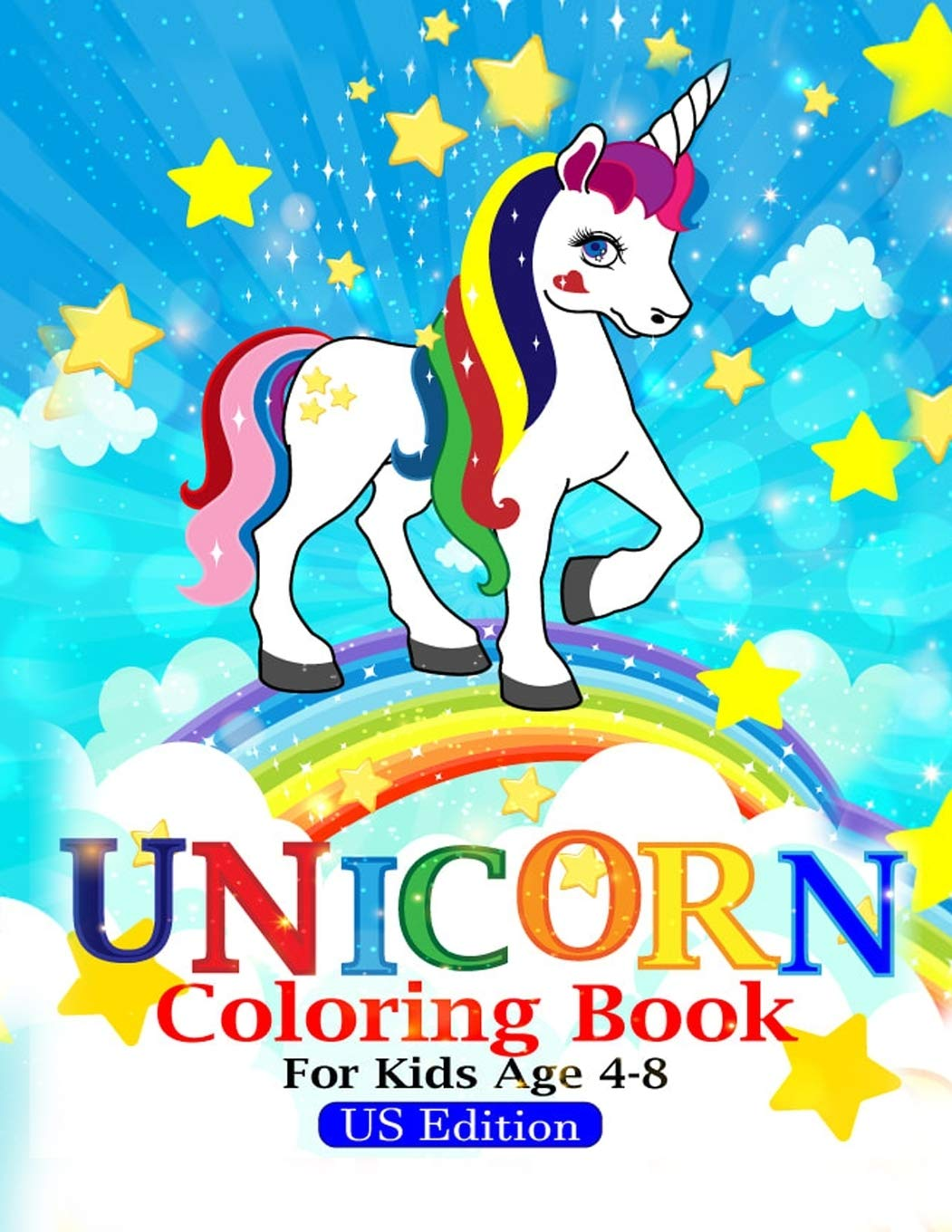 Unicorn Coloring Book For Kids Ages 4 8 Us Edition - Book ...