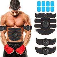 JoJoMooN Muscle Toner Abdominal Toning Belt EMS ABS Toner Body Muscle Trainer Wireless...