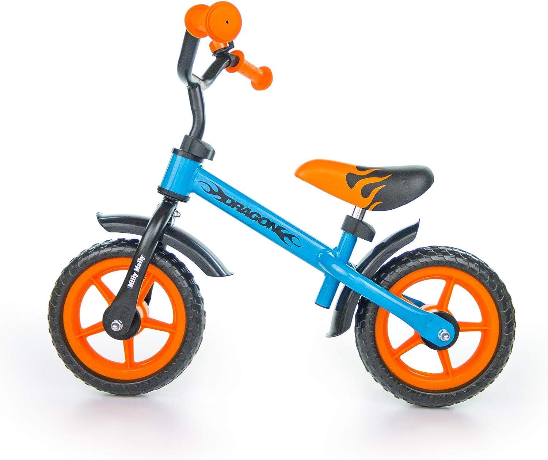 MILLY MALLY Dragon Infantil Unisex Ciudad Acero Negro, Azul, Naranja bicicletta - Bicicleta (Ciudad, Acero, Negro, Azul, Naranja, 25,4 cm (10