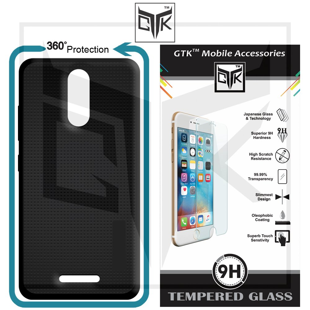 bf357237aff4 TheGiftKart™ Combo for Xolo Era 2X (Combo of 1 Back Cover + 1 Tempered  Glass) - TheGiftKart™ 360* Protection Premium Black Dotted Soft Back Cover ( Black) + ...