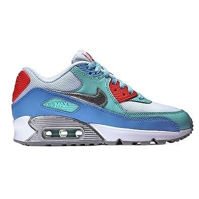 f21c5f2031a Nike Unisex-Kinder Air Max 90 Gs 724855-100 Sneaker, Mehrfarbig (White