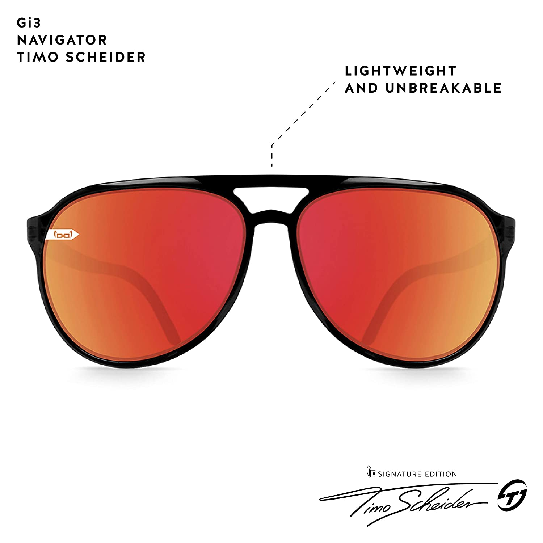 gloryfy unbreakable eyewear gi3/Navegador de Timo Scheider Gafas de Sol Gloryfy Antracita//Black L