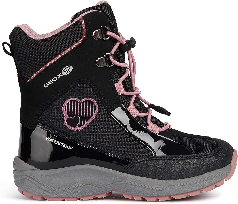 Geox Girls TRIVOR BOY 1 Waterproof Boots Riptape Strap