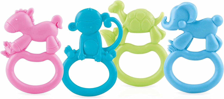 Nuby Zoo Loops - Anillo de dentición: Amazon.es: Bebé