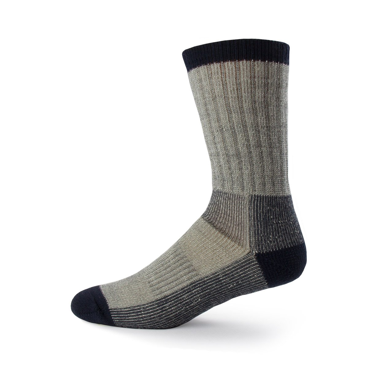 Minus33 Merino Wool Day Hiker Sock, Denim Heather, Large by Minus33 Merino Wool