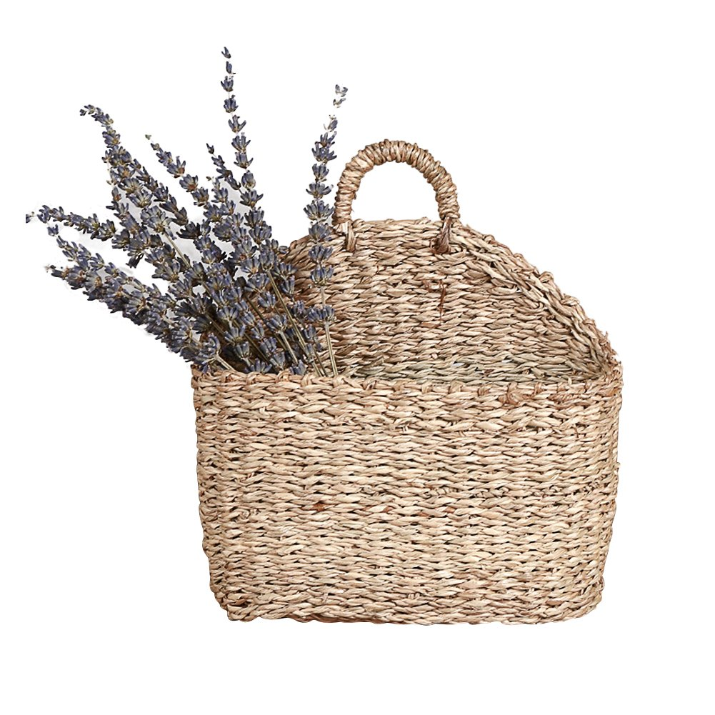 YUNT Willow Baskets with Handle – Hanging Flower Pot Planter Basket Wall Basket Wicker Storage Baskets