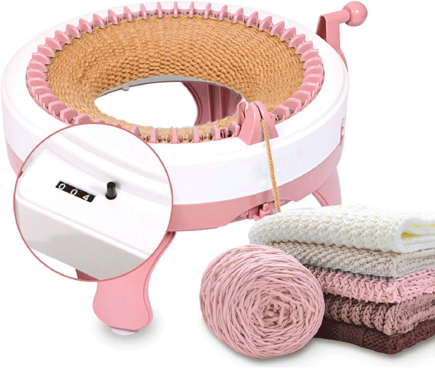 Smart Weaving Loom Stricken Rundwebrahmen f/ür Erwachsene//Kinder 48 Nadeln Stricken Webrahmen Maschine mit Reihenz/ähler FYGAIN Strickmaschine