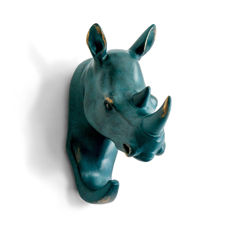 Herngee Rhino Tête seul Mur Crochet/Cintre en forme de ...