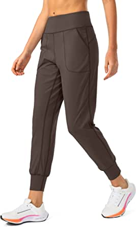 Soothfeel Women's Joggers with Phone Pockets High Waist Athletic Workout Yoga Tapered Lounge Pants Joggers for Women