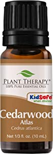 Plant Therapy Cedarwood Atlas Essential Oil 10 mL (1/3 oz) 100% Pure, Undiluted, Therapeutic Grade