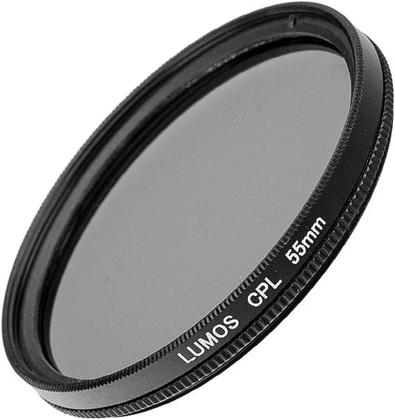 Lumos compatibili con fotocamera Sony DSC-HX400V Set professionale di filtri da 55 mm filtro polarizzatore circolare HX300//55 mm e filtro UV slim MC temperato pi/ù volte