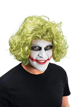 NEW GREEN WIG MAD MAN JOKER FANCY DRESS UNISEX (peluca)
