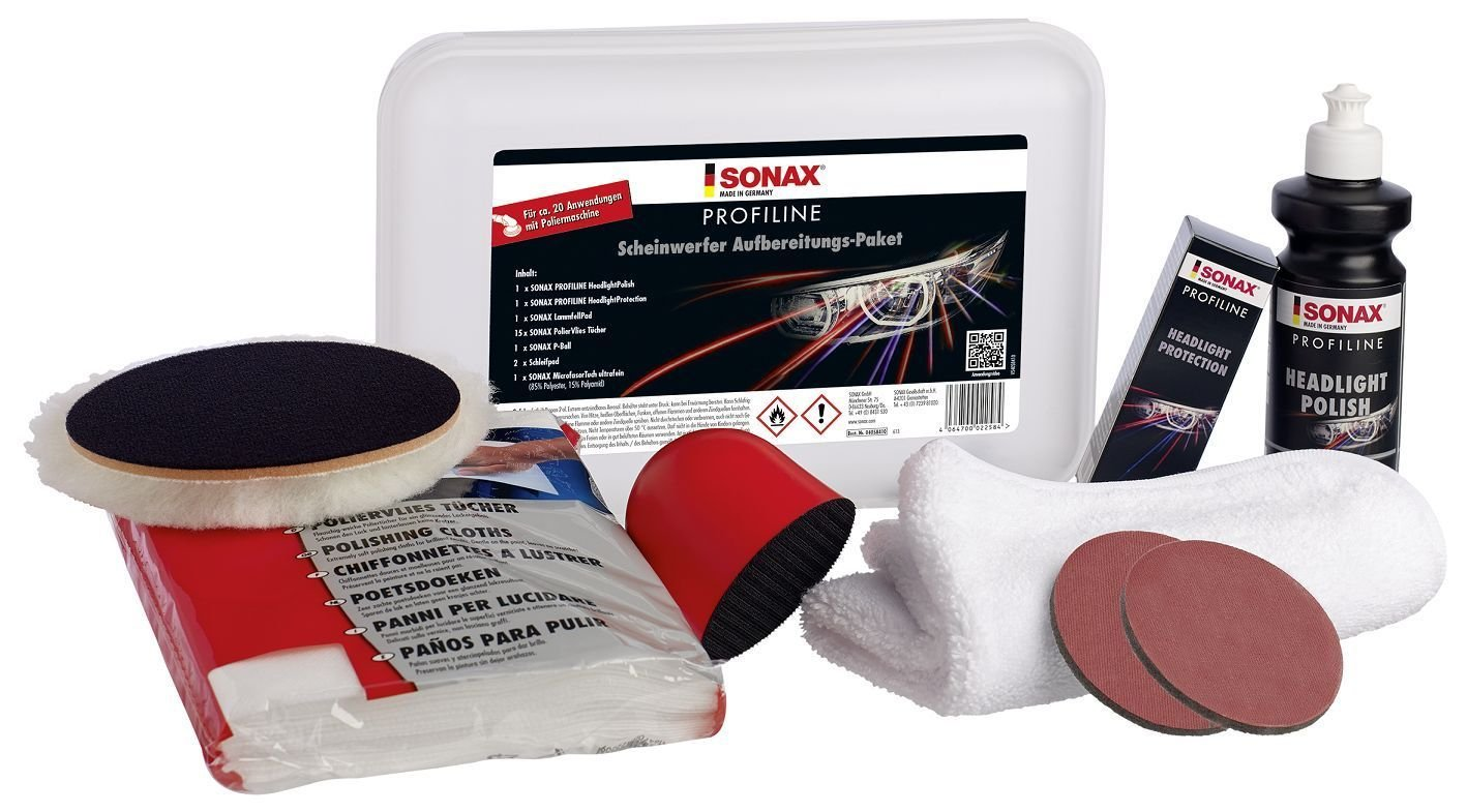 SONAX 405841 Profiline Scheinwerfer Aufbereitungs-Paket 206860