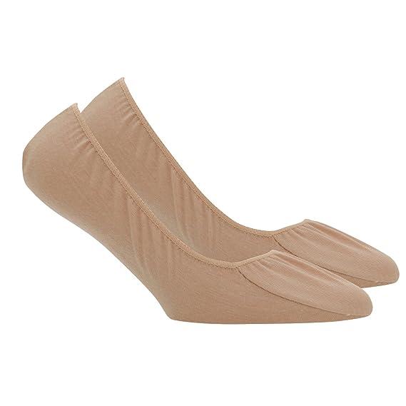 Calcetines tobilleros de color carne para mujer (2 pares) (EUR 37-41