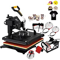 VEVOR Heat Press 15 X 15 Inch Heat Press Machine 6 in 1 Digital Multifunctional Sublimation Swing Away Heat Press 360 Degree Rotation Heat Transfer Press for T Shirts Cap Press Cup Press Plate