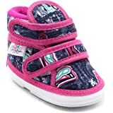 CHIU Unisex Chu with Double Strap Baby Boys & Baby Girls Pink Booties-18-21 Months (C02-Ak-47-Pink-6)