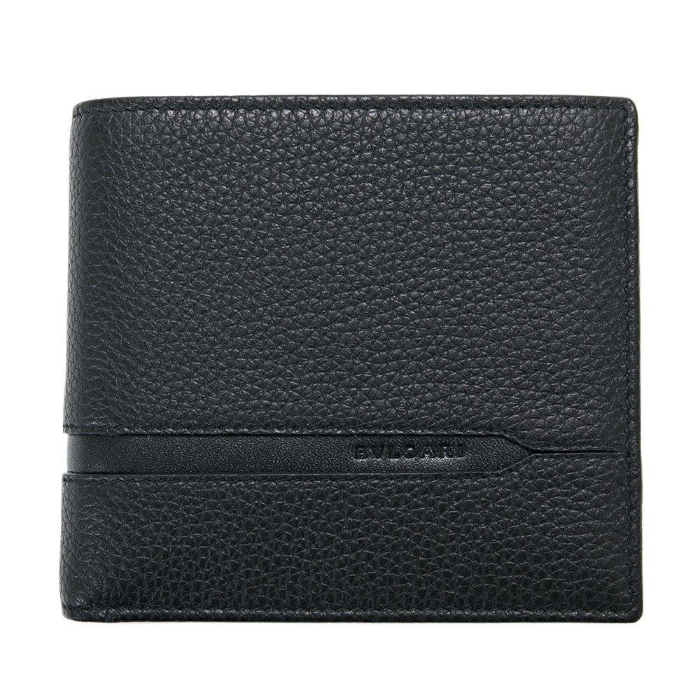 ブルガリ BVLGARI 財布 二つ折り財布 メンズ レザー 本革 OCTO オクト ブラック 黒 36964 BLACK シンプル B0781HRW8F
