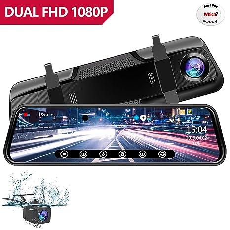 """Anstar Cámara de Coche 1080P Pantalla Táctil Dash CAM LCD de 10"""" con 170°"""