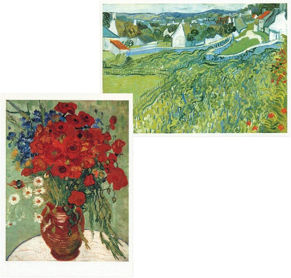 Caspari Van Gogh Blank Boxed Note Cards, 16 Cards & Envelopes