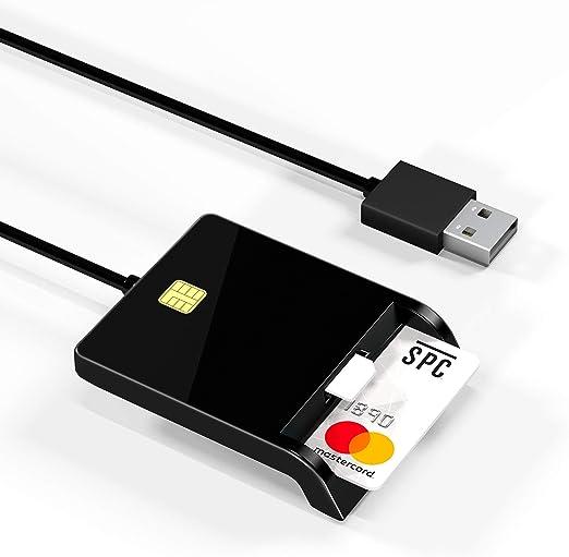 Arkidyn Usb Chipkartenleser Smartcard Reader Sim Computer Zubehör