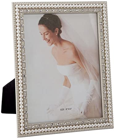 daphne white pearl 8x10 picture frame
