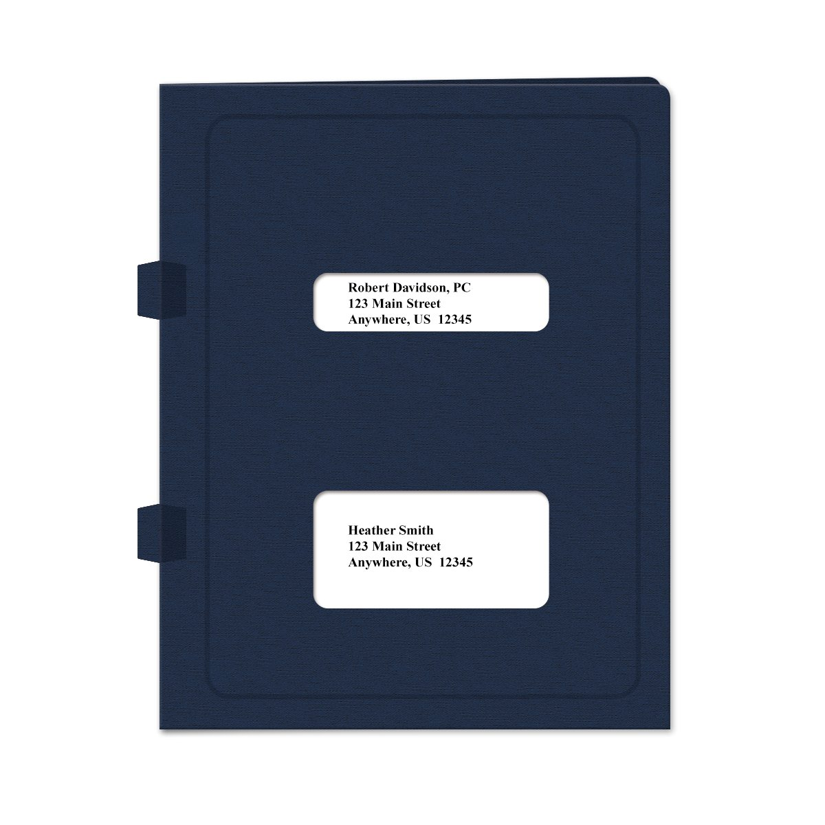Double Window Tax Return Software Folder - Side-Tabbed - 50 Pack