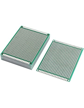 Sourcingmap® 10pcs Placa PCB de Doble Cara Prototipo Universal Soldable Papel 6cmx8cm