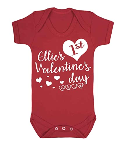 Personalised my 1st valentines day baby vest romper baby gifts personalised my 1st valentines day baby vest romper baby gifts valentines day 2018 babywear sleepsuit negle Images