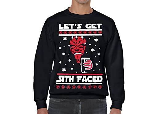 star wars ugly christmas sweater lets get sith faced s