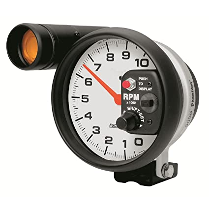 amazon com auto meter 5899 phantom shift lite tachometer automotive