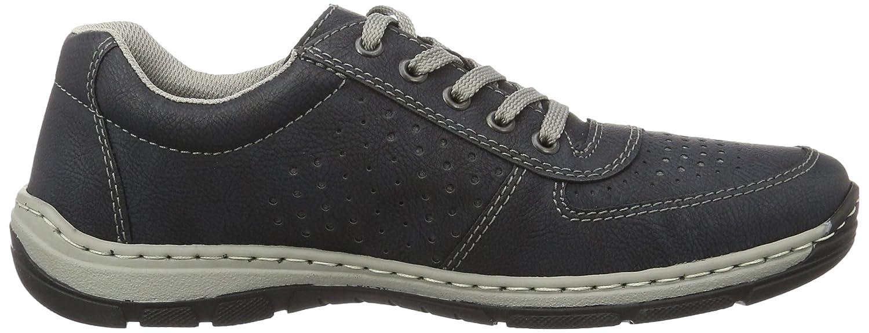 Rieker 15225, Zapatos de Cordones Oxford para Hombre, Azul (Ozean), 42 EU
