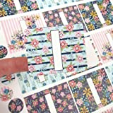 45 Wildflower Poly Weatherproof Labels + 45 Round Stickers - for Essential Oil Aromatherapy Bottle or Lip Balm Labels By Rivertree Life