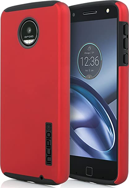 buy online 92339 c3c19 Moto Z Play Droid Case, Incipio [Hard Shell] [Dual Layer] DualPro for Moto  Z Play Droid-Iridescent Red/Black