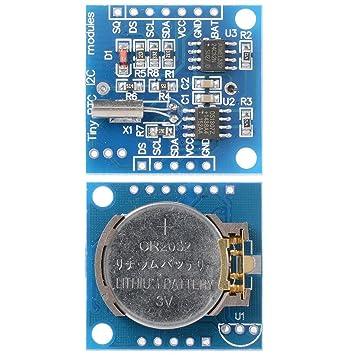 I2C DS1307 Módulo de Reloj de Tiempo Real Para RTC: Amazon.es: Electrónica