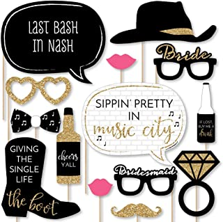 product image for Nash Bash - Nashville Bachelorette Party Photo Booth Props Kit - 20 Count