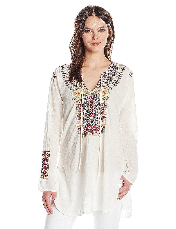 Biya by Johnny Was Women's Cossima Cotton Blouse Natural XS [並行輸入品] B075CHH3WF