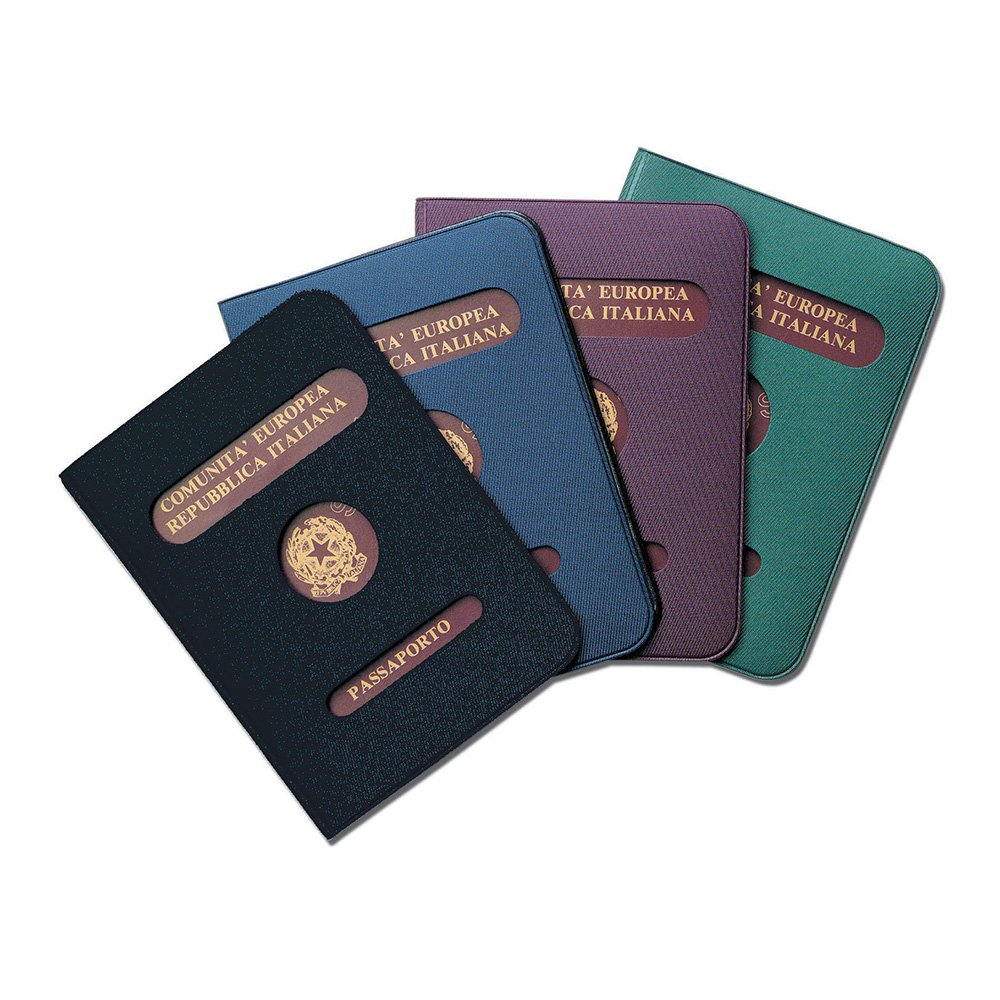Porte Passeport Etui Documents en Plastique avec /écran Bleu
