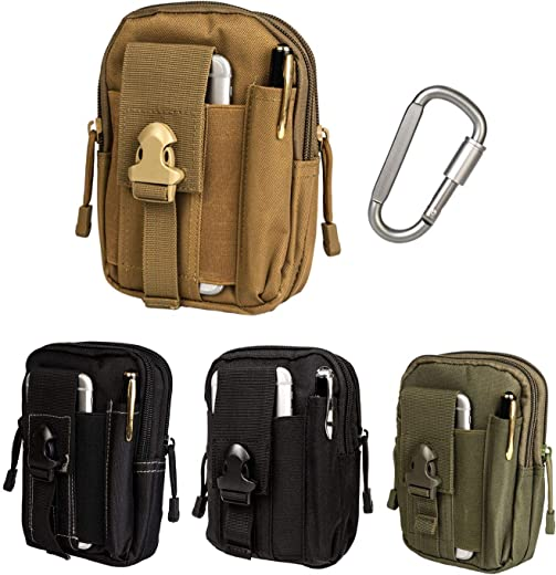 Tactical EDC Pouch Compact 1000D Multipurpose Molle Belt Waist Bag with Cell Phone Holder