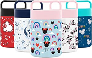 Simple Modern Provision Insulated Food Jar Thermos Leak Proof Stainless Steel Storage Lunch Container, 12oz with Handle Lid, Disney: Minnie Rainbows