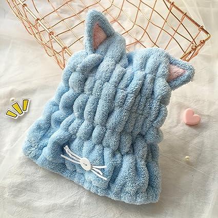 Toalla de baño para el cabello, de microfibra superabsorbente de secado rá