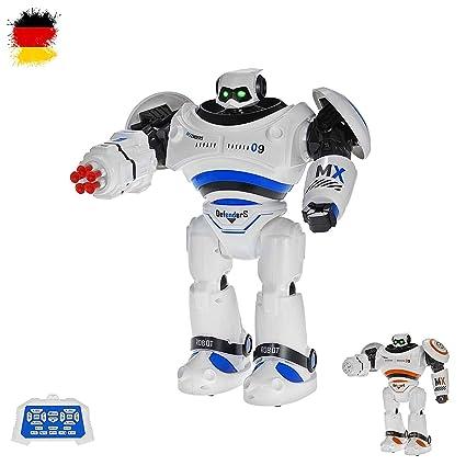 HSP Himoto Neuheit RC Ferngesteuerter programmierbarer Roboter mit Tanz- und Schussfunktion, Sound- und Musikfunktionen, Steu