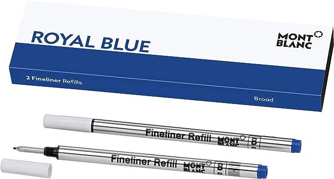 blau Tintenroller Mine Tintenrollerminen Rollerballminen 10 St NEU