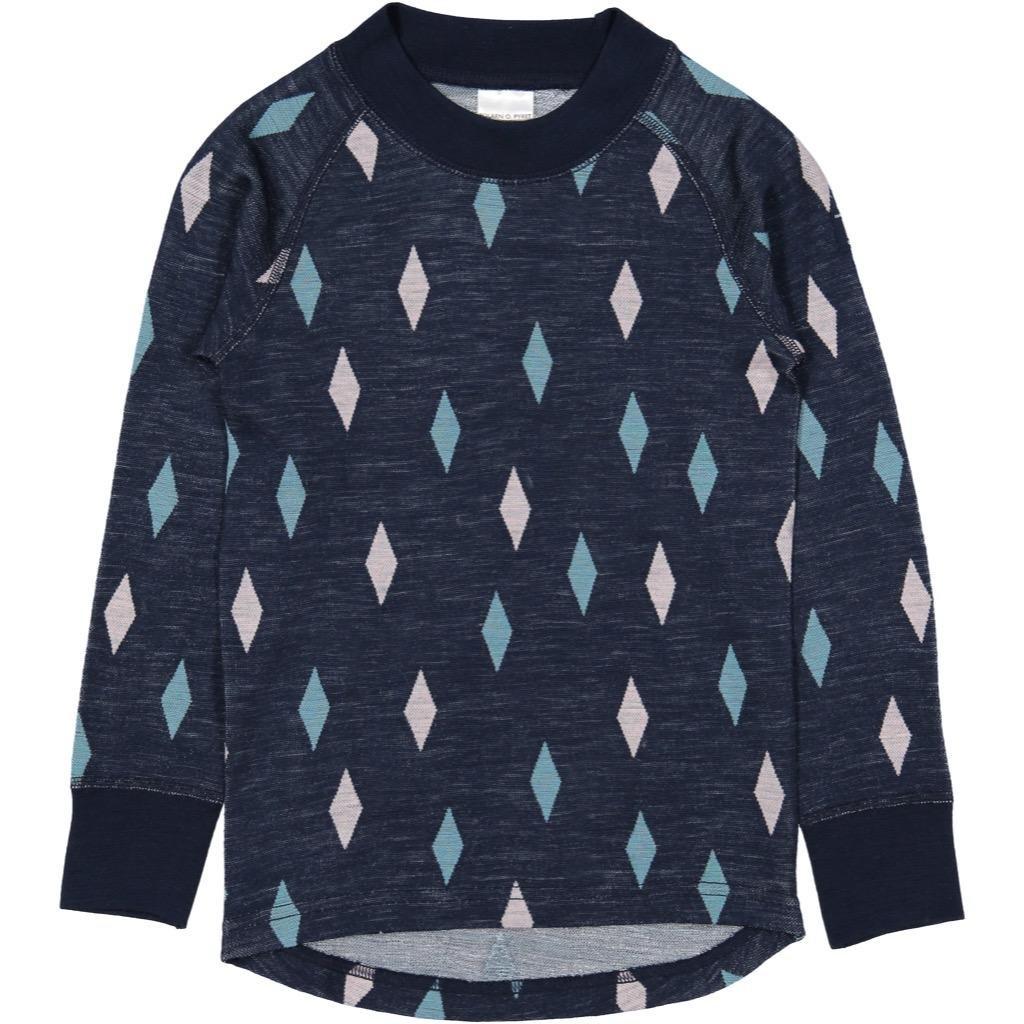 Polarn O. Pyret Harlequin Merino Wool TOP (6-12YRS)