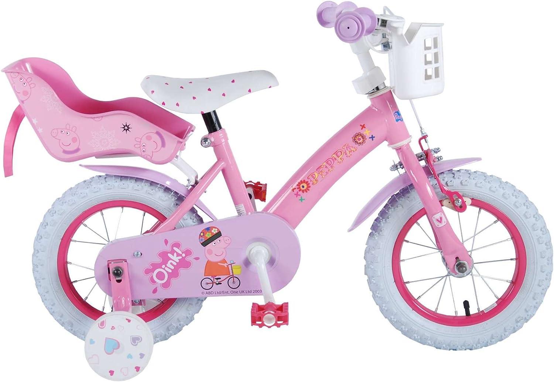Bicicleta de Niña de 12 pulgadas Peppa Pig con Ruedas Desmontable ...