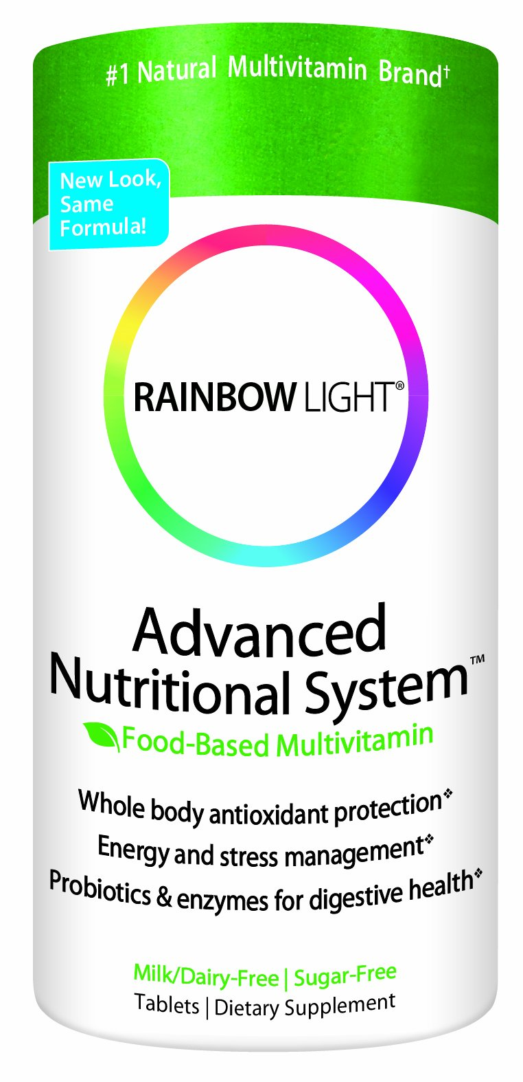 Rainbow Light Advanced Nutritional System  Food Based  Tablets  180 tablets