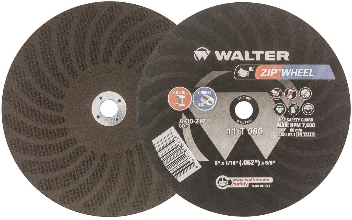 Walter ZIP Cutoff Wheel - (Pack of 25) Durable Cutting Disc for General Purpose. Welding Accessories