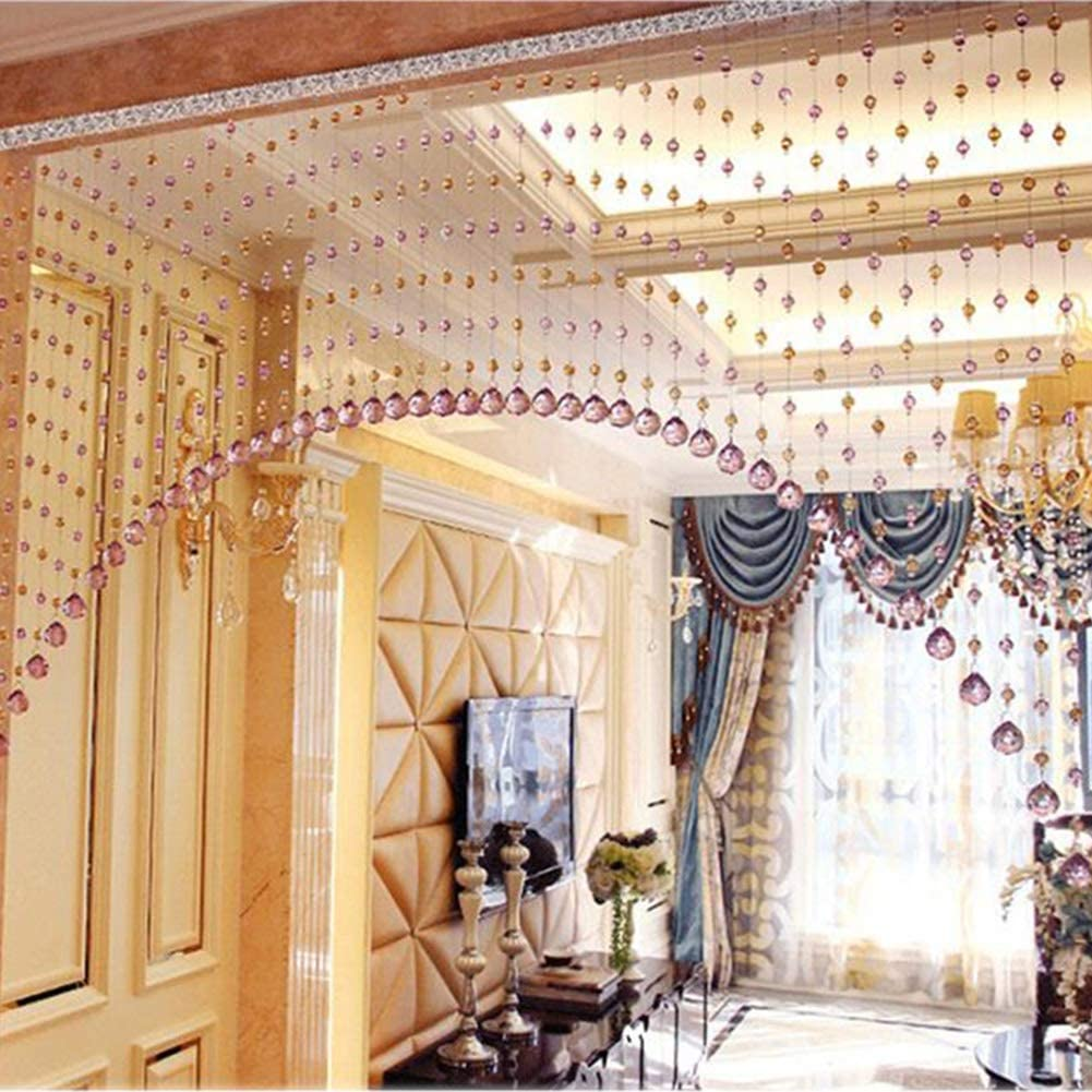 Amazon Com Bead Curtain Crystal Tassel Screen Living Room Partition Door Curtain Entrance Strings Bead Hanging Curtain For Room Decoration Jinrong Size 30 W 0 9 1 5m Home Kitchen
