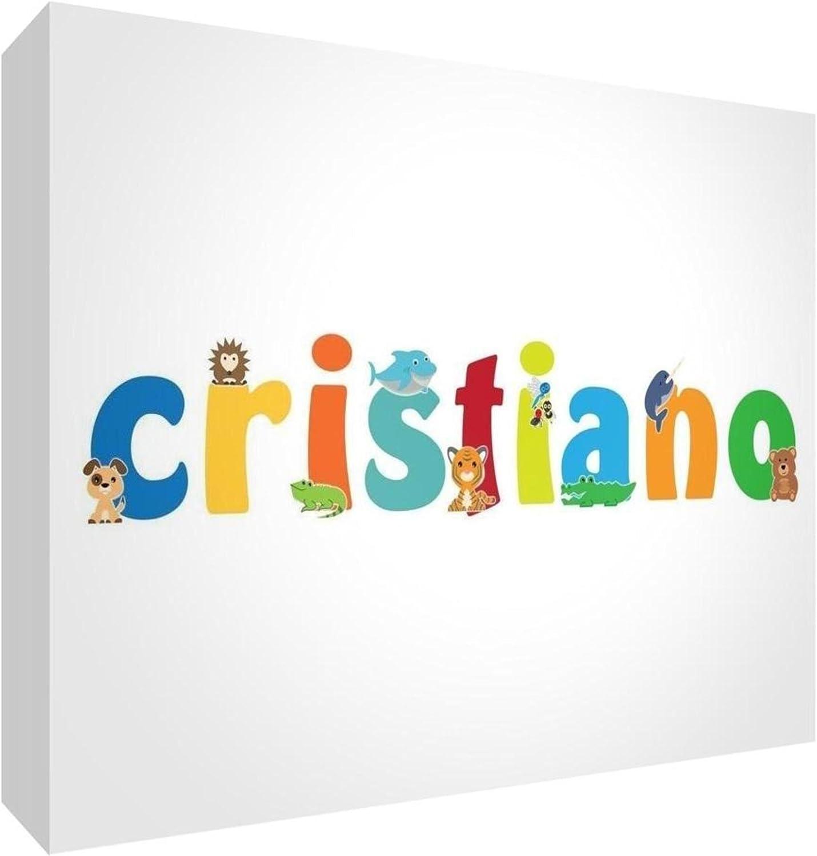 Little Helper Panel Decorativo Bebé/Bautizo Idea de Regalo, Diseño de Dibujo Personalizada con Nombre Para Adolescente Cristiano 14.8 x 21 x 2 cm multicolor