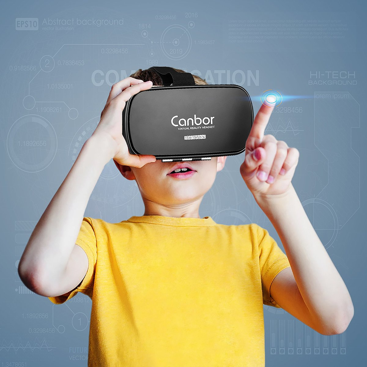 VR Headset, Canbor VR Goggles Virtual Reality Headset VR Glasses for 3D Video Movies Games for Apple iPhone, Samsung Huwei HTC More Smartphones by Canbor (Image #7)