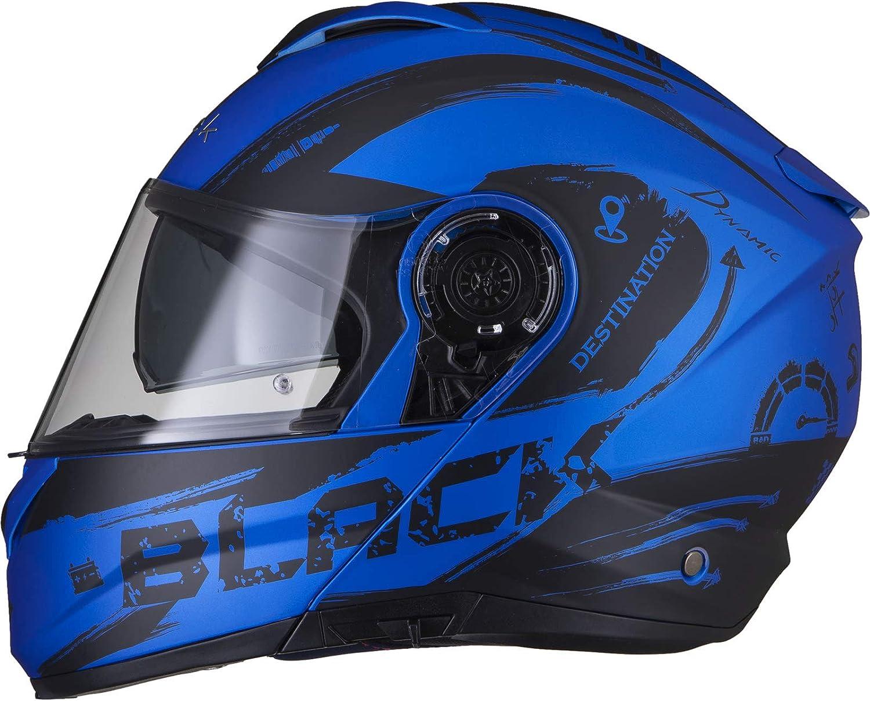 Black Optimus II Destination Flip Front Solid Motorradhelm